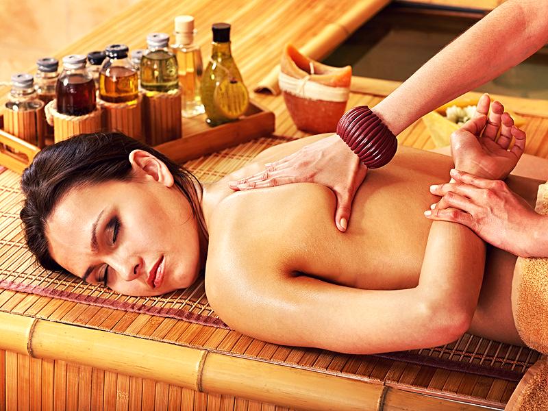 массаж с эфирными маслами